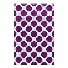 Circles2 White Marble & Purple Leather (r) Shower Curtain 48  X 72  (small)  by trendistuff