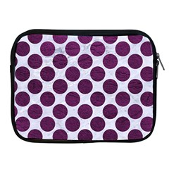 Circles2 White Marble & Purple Leather (r) Apple Ipad 2/3/4 Zipper Cases by trendistuff