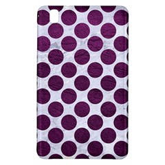 Circles2 White Marble & Purple Leather (r) Samsung Galaxy Tab Pro 8 4 Hardshell Case by trendistuff