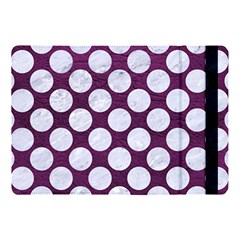 Circles2 White Marble & Purple Leather Apple Ipad Pro 10 5   Flip Case by trendistuff