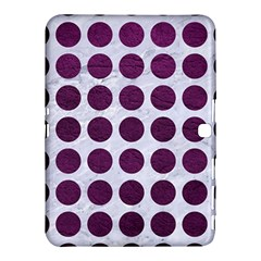 Circles1 White Marble & Purple Leather (r) Samsung Galaxy Tab 4 (10 1 ) Hardshell Case  by trendistuff