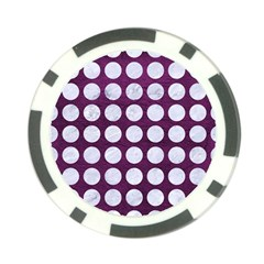 Circles1 White Marble & Purple Leather Poker Chip Card Guard by trendistuff