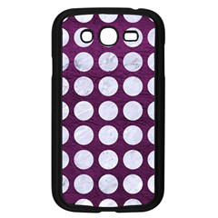 Circles1 White Marble & Purple Leather Samsung Galaxy Grand Duos I9082 Case (black) by trendistuff