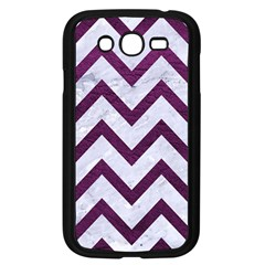 Chevron9 White Marble & Purple Leather (r) Samsung Galaxy Grand Duos I9082 Case (black) by trendistuff