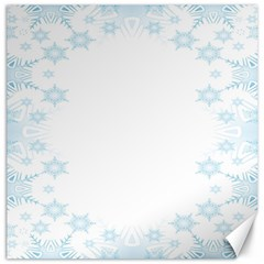 The Background Snow Snowflakes Canvas 12  X 12