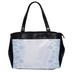 The Background Snow Snowflakes Office Handbags by Sapixe