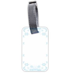 The Background Snow Snowflakes Luggage Tags (one Side)  by Sapixe