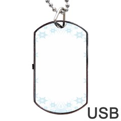 The Background Snow Snowflakes Dog Tag Usb Flash (two Sides) by Sapixe