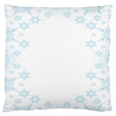 The Background Snow Snowflakes Standard Flano Cushion Case (two Sides)