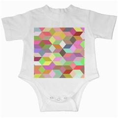 Mosaic Background Cube Pattern Infant Creepers by Sapixe
