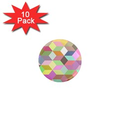 Mosaic Background Cube Pattern 1  Mini Magnet (10 Pack)  by Sapixe