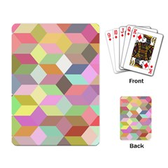 Mosaic Background Cube Pattern Playing Card by Sapixe