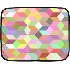 Mosaic Background Cube Pattern Double Sided Fleece Blanket (mini)  by Sapixe