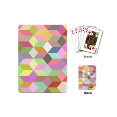 Mosaic Background Cube Pattern Playing Cards (mini)  by Sapixe