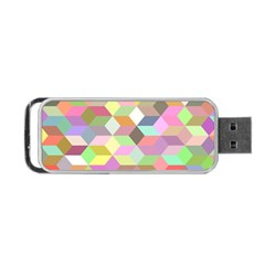 Mosaic Background Cube Pattern Portable Usb Flash (two Sides) by Sapixe