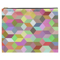 Mosaic Background Cube Pattern Cosmetic Bag (xxxl)  by Sapixe