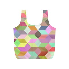 Mosaic Background Cube Pattern Full Print Recycle Bags (s)  by Sapixe