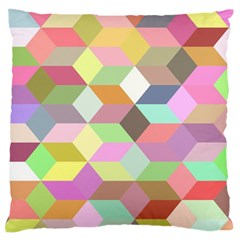 Mosaic Background Cube Pattern Standard Flano Cushion Case (two Sides) by Sapixe