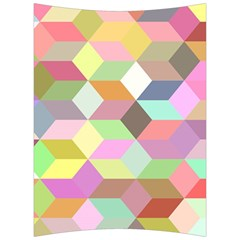 Mosaic Background Cube Pattern Back Support Cushion by Sapixe