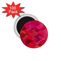 Red Background Pattern Square 1 75  Magnets (100 Pack)  by Sapixe