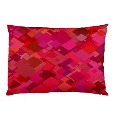 Red Background Pattern Square Pillow Case by Sapixe