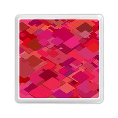 Red Background Pattern Square Memory Card Reader (square)  by Sapixe