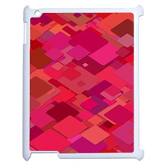 Red Background Pattern Square Apple Ipad 2 Case (white) by Sapixe