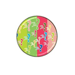 Question Mark Problems Clouds Hat Clip Ball Marker