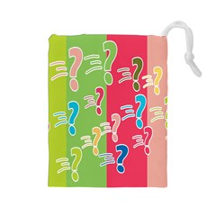 Question Mark Problems Clouds Drawstring Pouches (large)