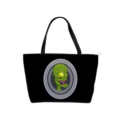 Zombie Pictured Illustration Shoulder Handbags