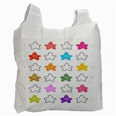 Stars Set Up Element Disjunct Image Recycle Bag (one Side)