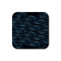 Desktop Pattern Vector Design Rubber Coaster (square)