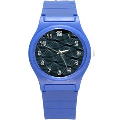 Desktop Pattern Vector Design Round Plastic Sport Watch (s)