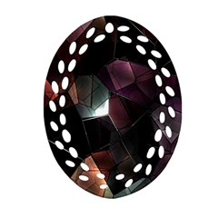 Crystals Background Design Luxury Ornament (oval Filigree)
