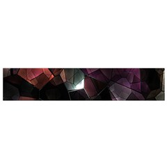 Crystals Background Design Luxury Small Flano Scarf