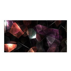 Crystals Background Design Luxury Satin Wrap by Sapixe