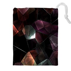 Crystals Background Design Luxury Drawstring Pouches (xxl)
