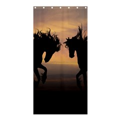 Horses Sunset Photoshop Graphics Shower Curtain 36  X 72  (stall)