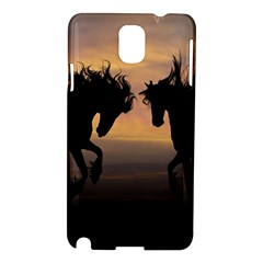 Horses Sunset Photoshop Graphics Samsung Galaxy Note 3 N9005 Hardshell Case by Sapixe