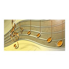 Music Staves Clef Background Image Satin Wrap