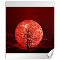 The Background Red Moon Wallpaper Canvas 8  X 10  by Sapixe