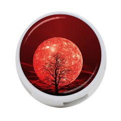 The Background Red Moon Wallpaper 4 Port Usb Hub (one Side) by Sapixe