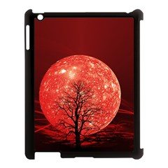 The Background Red Moon Wallpaper Apple Ipad 3/4 Case (black)