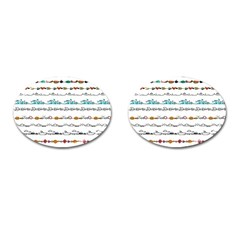 Decoration Element Style Pattern Cufflinks (oval) by Sapixe