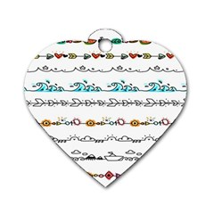 Decoration Element Style Pattern Dog Tag Heart (one Side) by Sapixe