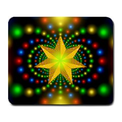 Christmas Star Fractal Symmetry Large Mousepads by Sapixe