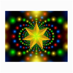 Christmas Star Fractal Symmetry Small Glasses Cloth by Sapixe