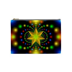 Christmas Star Fractal Symmetry Cosmetic Bag (medium)  by Sapixe