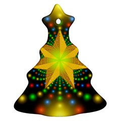 Christmas Star Fractal Symmetry Ornament (christmas Tree)  by Sapixe