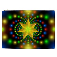 Christmas Star Fractal Symmetry Cosmetic Bag (xxl)  by Sapixe